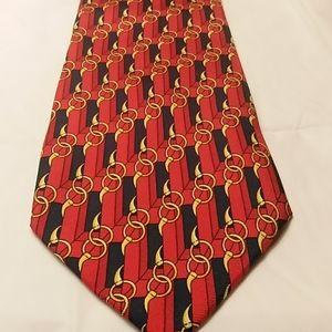 Gucci by Paolo Gucci equestrian silk tie horsebit